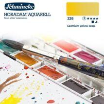 Schmincke Horadam akvarellfesték 3.árkategória 4ml szilke Cadmium yellow deep 226