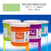 Lefranc&Bourgeois Flashe akrilfesték 3.árkategória 125ml Fluo yellow green (fluoreszkáló) 590