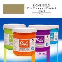 Lefranc&Bourgeois Flashe akrilfesték 2.árkategória 125ml Light gold 703