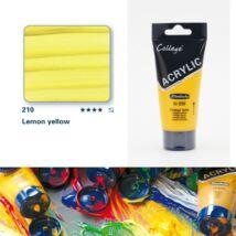 Schmincke College akrilfesték 75ml Lemon yellow 210