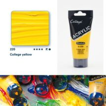 Schmincke College akrilfesték 75ml College yellow 220