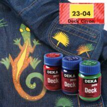 Deka PermDeck textilfesték sötét anyagra 25ml citrom