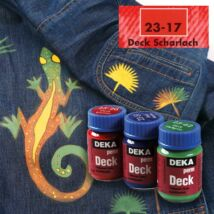 Deka PermDeck textilfesték sötét anyagra 25ml skarlát