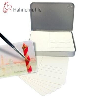 Hahnemühle Akvarell levelezőpapír 230gr/m2 30db/cs. Fémdobozban