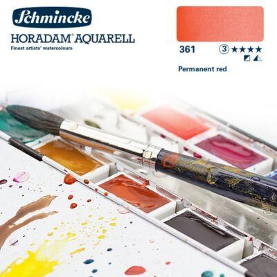 Schmincke Horadam akvarellfesték 3.árkategória 4ml szilke Permanent red 361