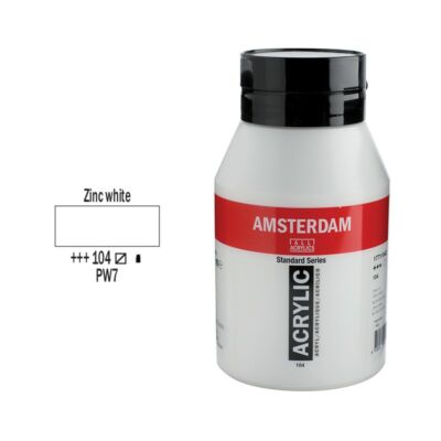 Talens Amsterdam akrilfesték 1000ml zinc white 104