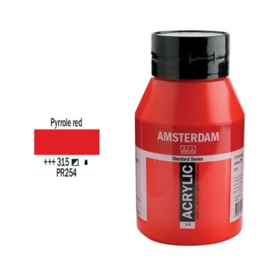 Talens Amsterdam akrilfesték 1000ml pyrrole red 315