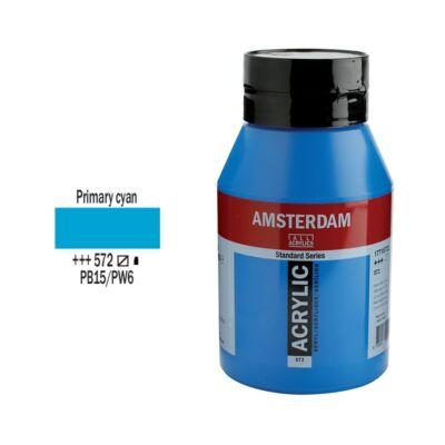 Talens Amsterdam akrilfesték 1000ml primary cyan 572