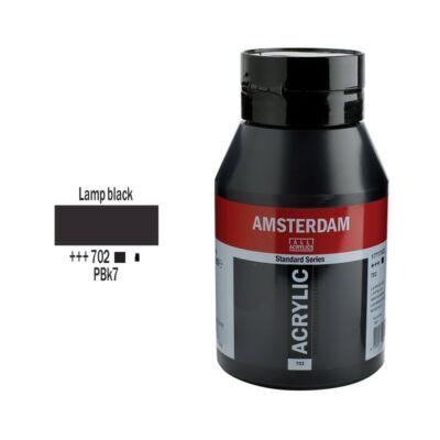 Talens Amsterdam akrilfesték 1000ml lamp black 702