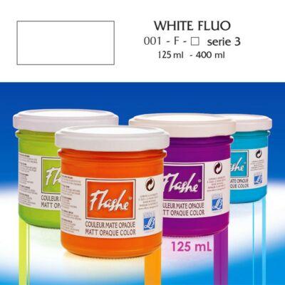 Lefranc&Bourgeois Flashe akrilfesték 3.árkategória 125ml Fluo white (fluoreszkáló) 001