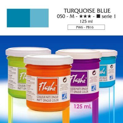 Lefranc&Bourgeois Flashe akrilfesték 1.árkategória 125ml Turquoise blue