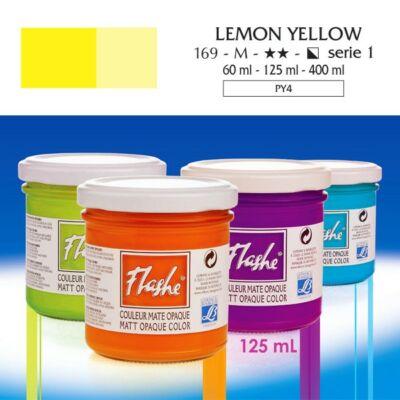 Lefranc&Bourgeois Flashe akrilfesték 1.árkategória 125ml Lemon yellow