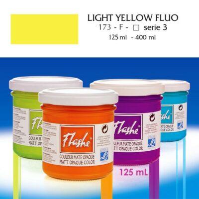Lefranc&Bourgeois Flashe akrilfesték 3.árkategória 125ml Fluo light yellow (fluoreszkáló)