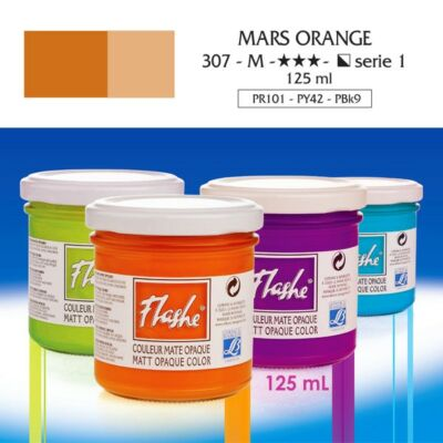 Lefranc&Bourgeois Flashe akrilfesték 1.árkategória 125ml Mars orange 307