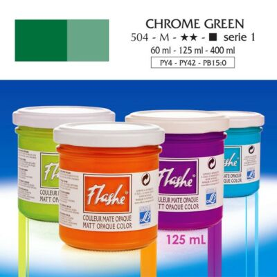 Lefranc&Bourgeois Flashe akrilfesték 1.árkategória 125ml Chrome green 504