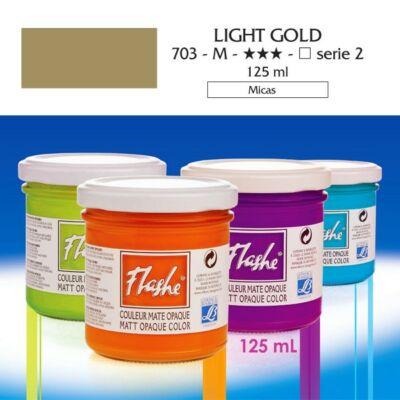 Lefranc&Bourgeois Flashe akrilfesték 2.árkategória 125ml Light gold