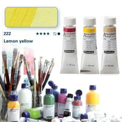 Schmincke Akademie acryl 60ml Lemon yellow 222