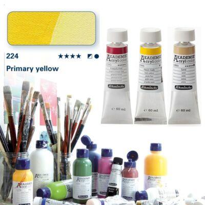 Schmincke Akademie acryl 60ml Primary yellow 224