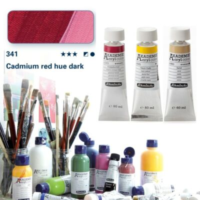 Schmincke Akademie acryl 60ml Cadmium red hue dark 341