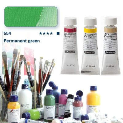 Schmincke Akademie acryl 60ml Permanent green 554