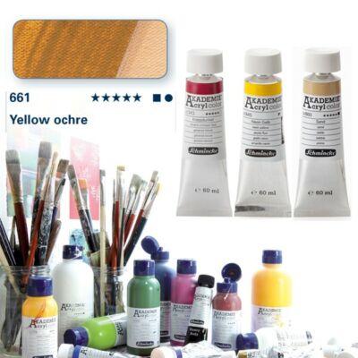 Schmincke Akademie acryl 60ml Yellow ochre 661