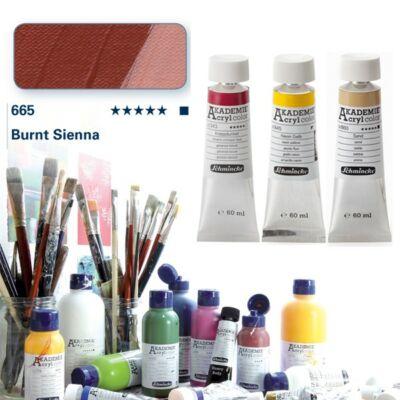 Schmincke Akademie acryl 60ml Burnt sienna 665