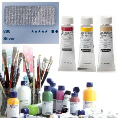 Schmincke Akademie acryl 60ml Silver 800