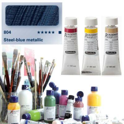 Schmincke Akademie acryl 60ml Blue metallic 804