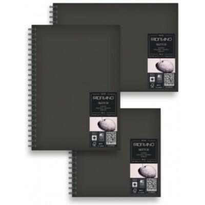 Fabriano Schizzi Oldalspirálos, keményborítós - Sketch - 14,8x21cm,     80lap, 110gr/m2 -álló formátum -