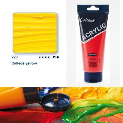 Schmincke College akrilfesték 200ml College yellow 220