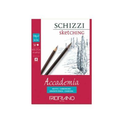 Fabriano Accademia rajzkarton 50 lap/blokk 120g/nm 14,8x21cm ragasztott