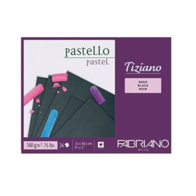 Fabriano Tiziano rajzblokk 24 lap/blokk 160g/nm 23x30,5cm fekete