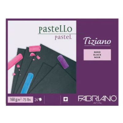 Fabriano Tiziano rajzblokk 24 lap/blokk 160g/nm 30,5x41cm fekete