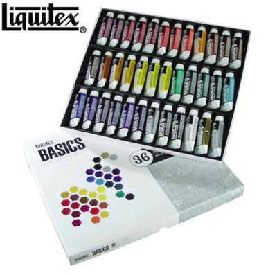 Lefranc&Bourgeois Liquitex Basics kartondobozos akrilkészlet 36x22ml