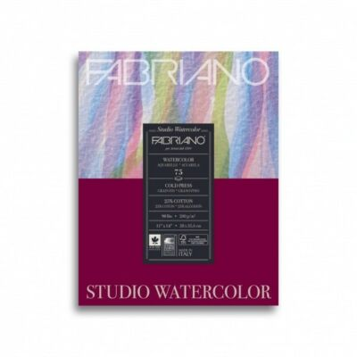 Fabriano Fabriano Watercolour festőblokk 200gr/nm 20 lap/blokk (25% pamut tartalmú papír) 18x24cm
