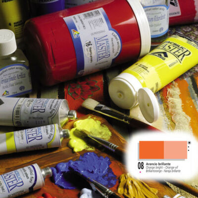 Ferrario Acrilic Master akrilfesték 60ml Orange bright 08