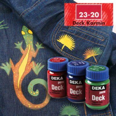 Deka PermDeck textilfesték sötét anyagra 25ml kármin