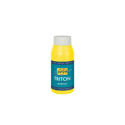 Kreul Solo Goya Triton akrilfesték, 750 ml - 01, genuine yellow light