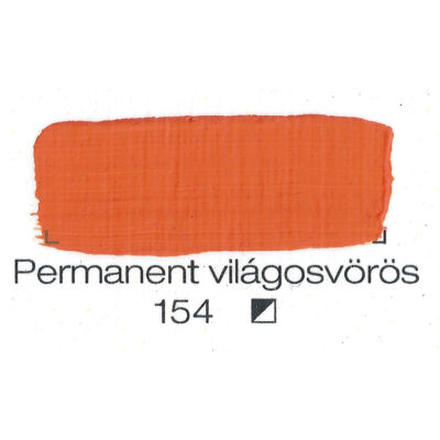 Pannoncolor akril 38 ml-es permanent világosvörös 154