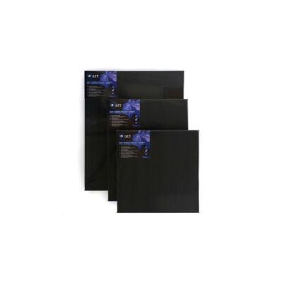 Q-art feszített festővászon, 330 g, pamut+szintetikus, 40x40 cm, fekete